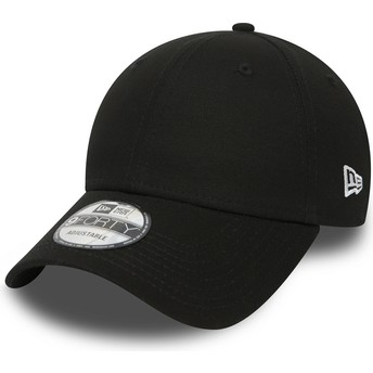 New Era Curved Brim 9FORTY Basic Flag Adjustable Cap schwarz