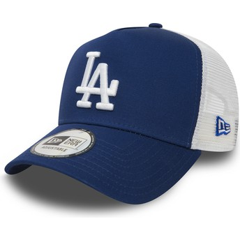 New Era Clean A Frame Los Angeles Dodgers MLB Trucker Cap blau