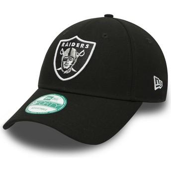 New Era Curved Brim 9FORTY The League Oakland Raiders NFL Adjustable Cap schwarz
