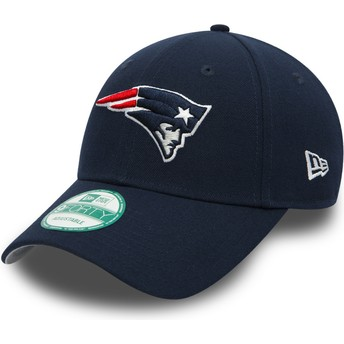 New Era Curved Brim 9FORTY The League New England Patriots NFL Adjustable Cap marineblau