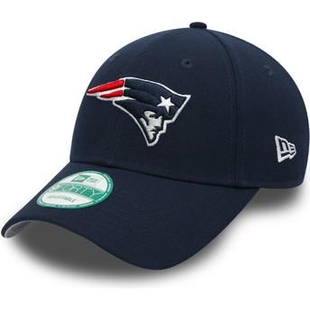 New Era Curved Brim 9FORTY The League New England Patriots NFL Adjustable Cap marineblau