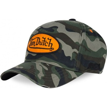Von Dutch Curved Brim CAMOU02 Adjustable Cap camo