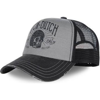 Von Dutch Curved Brim CREW1 Adjustable Cap grau und schwarz
