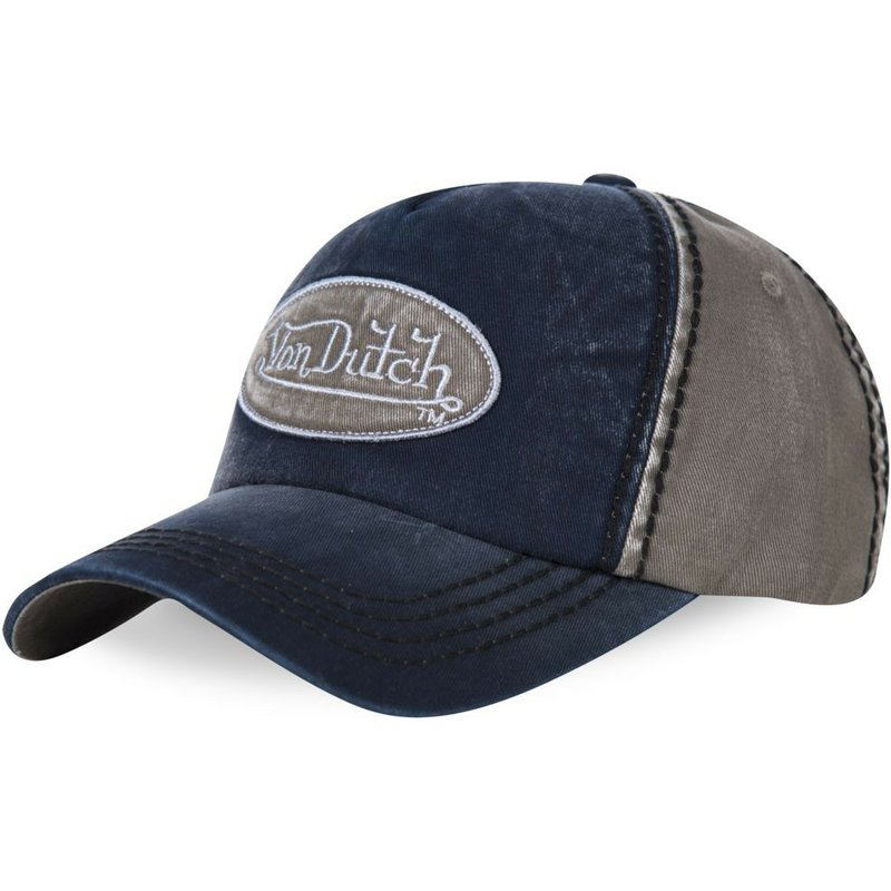 von-dutch-curved-brim-ilan01-adjustable-cap-marineblau-und-grau