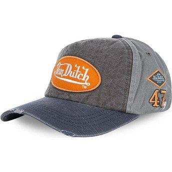 Von Dutch Curved Brim JACKGM Adjustable Cap grau