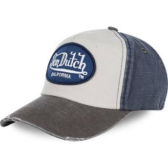Von Dutch Curved Brim JACKMWB Adjustable Cap weiß