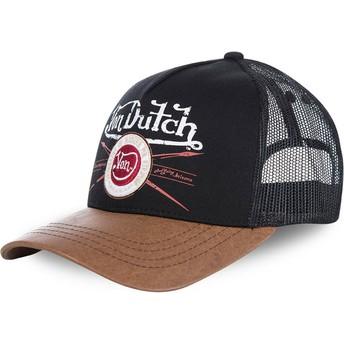 Von Dutch PIN Trucker Cap schwarz und braun