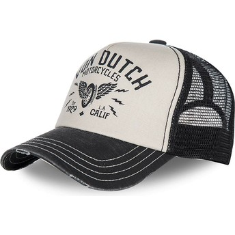 Von Dutch Curved Brim CREW2 Adjustable Cap weiß und schwarz