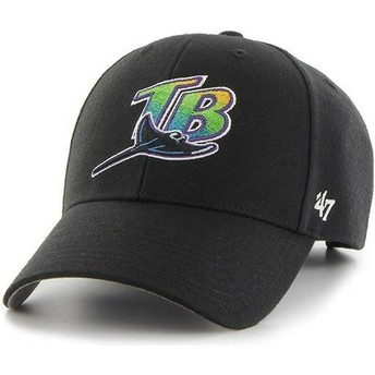 47 Brand Curved Brim Tampa Bay Rays MLB MVP Cap schwarz