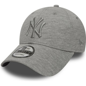 New Era Curved Brim Graues Logo 9FORTY Essential New York Yankees MLB Adjustable Cap grau