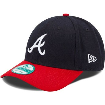 New Era Curved Brim 9FORTY The League Atlanta Braves MLB marineAdjustable Cap blau und rot