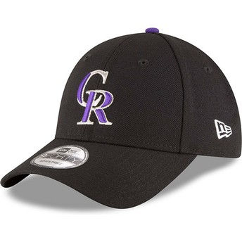 New Era Curved Brim 9FORTY The League Colorado Rockies MLB Adjustable Cap schwarz