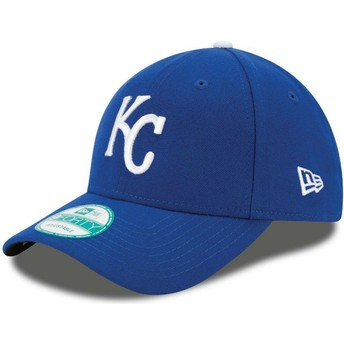 New Era Curved Brim 9FORTY The League Kansas City Royals MLB Adjustable Cap blau
