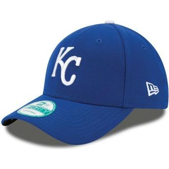 New Era Curved Brim 9FORTY The League Kansas City Royals MLB Adjustable Cap blau