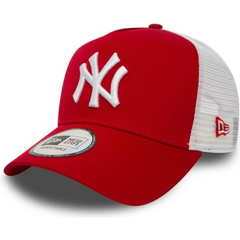 New Era Clean A Frame 2 New York Yankees MLB Trucker Cap rot