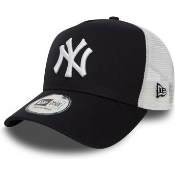 New Era Clean A Frame 2 New York Yankees MLB Trucker Cap marineblau