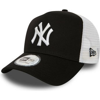 New Era Clean A Frame 2 New York Yankees MLB Trucker Cap schwarz