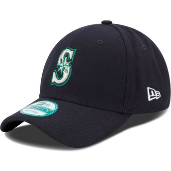 New Era Curved Brim 9FORTY The League Seattle Mariners MLB Adjustable Cap marineblau