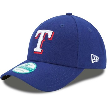 New Era Curved Brim 9FORTY The League Texas Rangers MLB Adjustable Cap blau