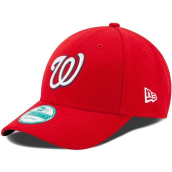 New Era Curved Brim 9FORTY The League Washington Nationals MLB Adjustable Cap rot