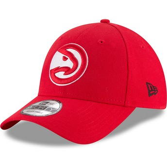 New Era Curved Brim 9FORTY The League Atlanta Hawks NBA Adjustable Cap rot