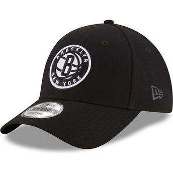 New Era Curved Brim 9FORTY The League Brooklyn Nets NBA Adjustable Cap schwarz