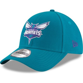 New Era Curved Brim 9FORTY The League Charlotte Hornets NBA Adjustable Cap blau