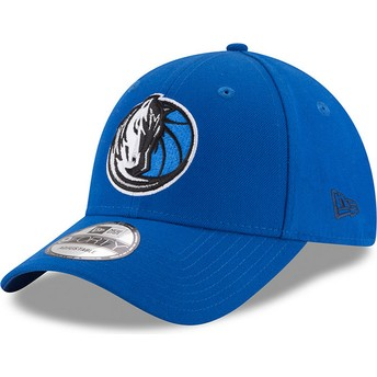 New Era Curved Brim 9FORTY The League Dallas Mavericks NBA Adjustable Cap blau