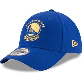 New Era Curved Brim 9FORTY The League Golden State Warriors NBA Adjustable Cap blau