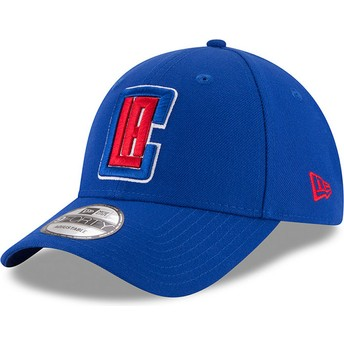 New Era Curved Brim 9FORTY The League Los Angeles Clippers NBA Adjustable Cap blau