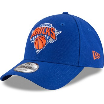 New Era Curved Brim 9FORTY The League New York Knicks NBA Adjustable Cap blau