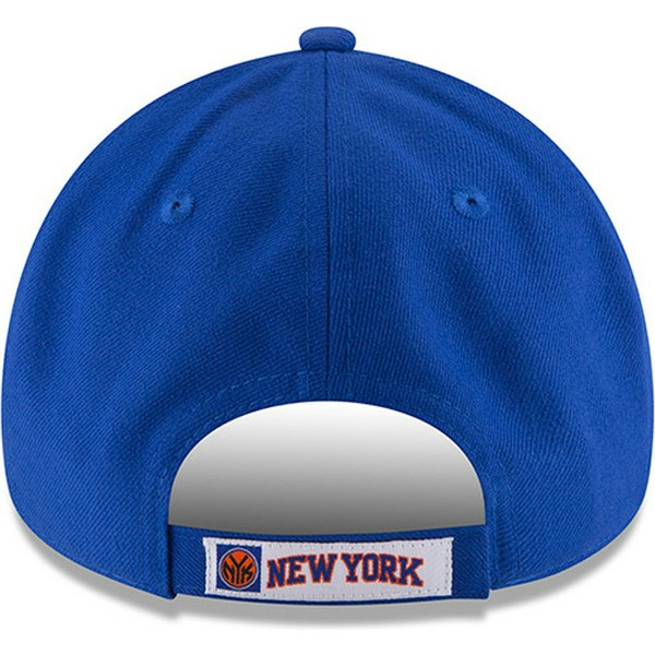 new-era-curved-brim-9forty-the-league-new-york-knicks-nba-adjustable-cap-blau