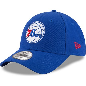 New Era Curved Brim 9FORTY The League Philadelphia 76ers NBA Adjustable Cap blau
