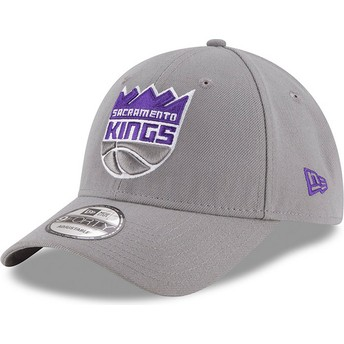 New Era Curved Brim 9FORTY The League Sacramento Kings NBA Adjustable Cap grau