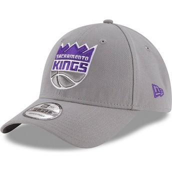 New Era Curved Brim 9FORTY The League Sacramento Kings NBA Adjustable Cap grau