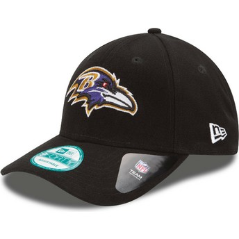 New Era Curved Brim 9FORTY The League Baltimore Ravens NFL Adjustable Cap schwarz