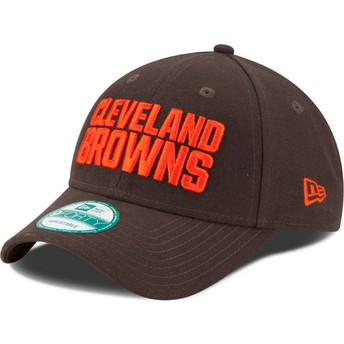 New Era Curved Brim 9FORTY The League Cleveland Browns NFL Adjustable Cap braun