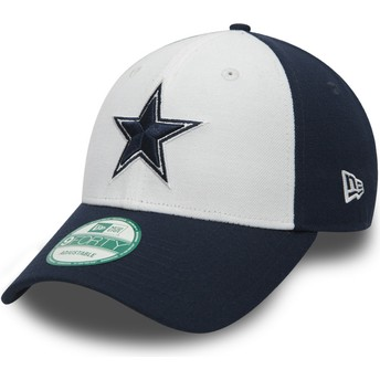 New Era Curved Brim 9FORTY The League Dallas Cowboys NFL Adjustable Cap weiß und marineblau