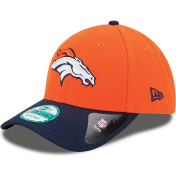 New Era Curved Brim 9FORTY The League Denver Broncos NFL Adjustable Cap orange und marineblau