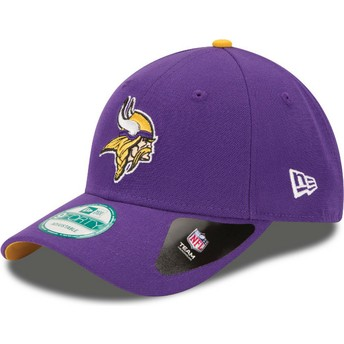 New Era Curved Brim 9FORTY The League Minnesota Vikings NFL Purple Adjustable Cap