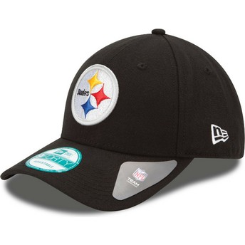 New Era Curved Brim 9FORTY The League Pittsburgh Steelers NFL Adjustable Cap schwarz