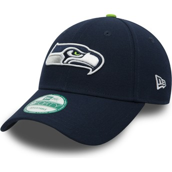 New Era Curved Brim 9FORTY The League Seattle Seahawks NFL Adjustable Cap marineblau