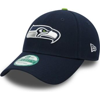New Era Curved Brim 9FORTY The League Seattle Seahawks NFL Adjustable Cap marineblau
