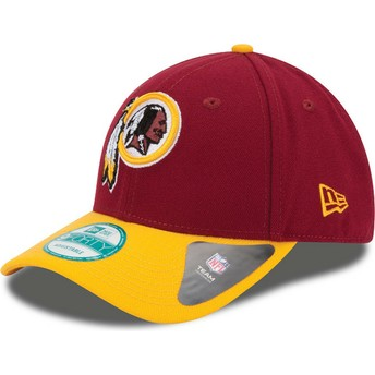 New Era Curved Brim 9FORTY The League Washington rotskins NFL Adjustable Cap rot und gelb