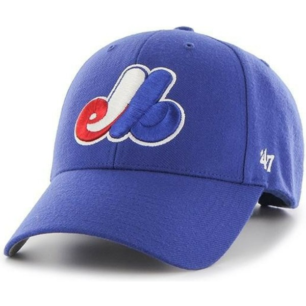 47-brand-curved-brim-classic-logo-montreal-expos-mlb-mvp-cooperstown-adjustable-cap-blau