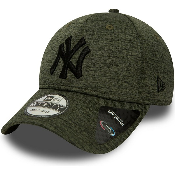 new-era-curved-brim-9forty-dry-switch-jersey-new-york-yankees-mlb-adjustable-cap-grun