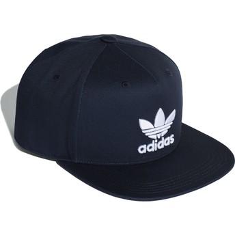 Adidas Flat Brim Trefoil Snapback Cap marineblau