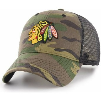 47 Brand Chicago Blackhawks NHL MVP Branson Trucker Cap camo
