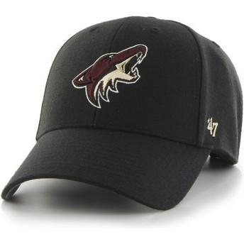 47 Brand Curved Brim Arizona Coyotes NHL MVP Cap schwarz