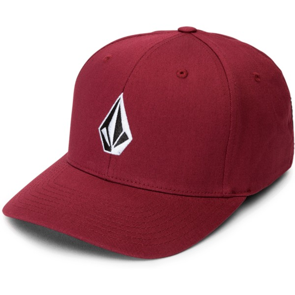 volcom-curved-brim-crimson-full-stone-xfit-fitted-cap-rot
